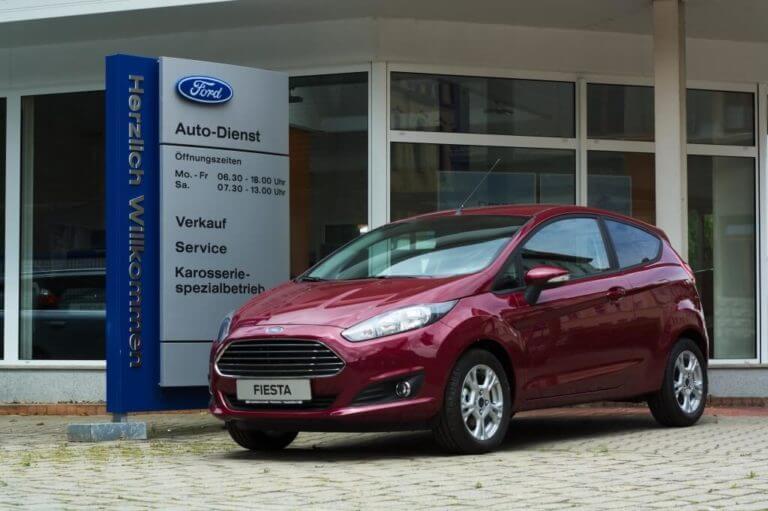 Ford Fiesta als Gebrauchtwagen-Inserat. Fotos wie diese, sind als Content für die Sozialen Medien gut geeignet